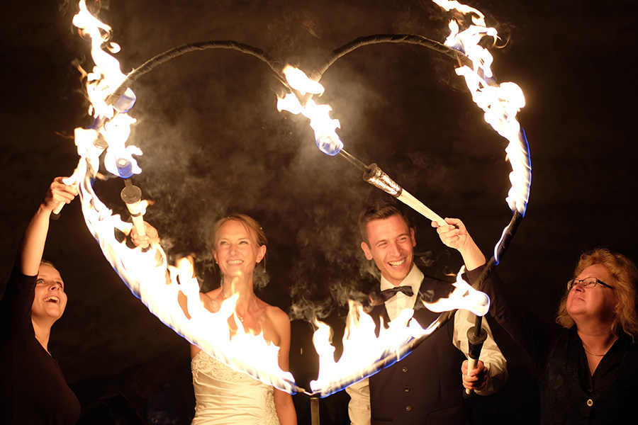 Hochzeit mit Feuershow - Bamberg